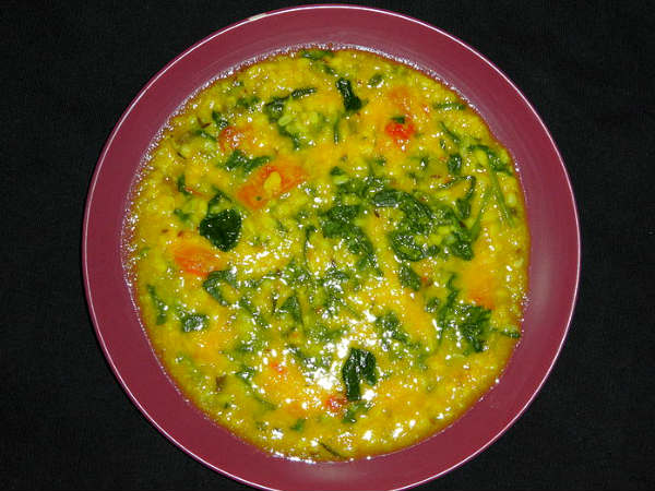 Moong Dal With Spinach Recipe