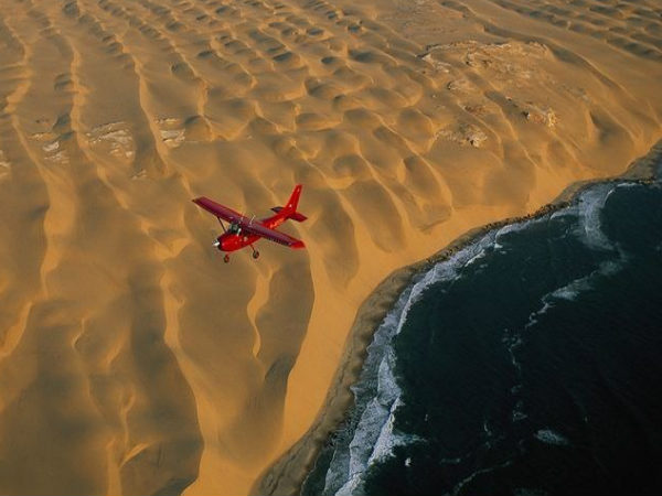 namib desert meets the atlantic ocean
