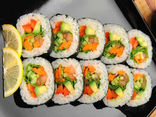 how to make veg Sushi