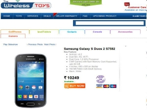 Samsung Galaxy S Duos 2 Top 10 Online Deals India
