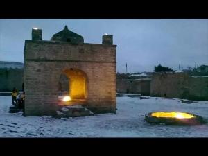Vedic Hindu Fire Temple Baku Ateshgah Azerbaijan
