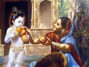 The Story Lord Krishna The Fruit Seller